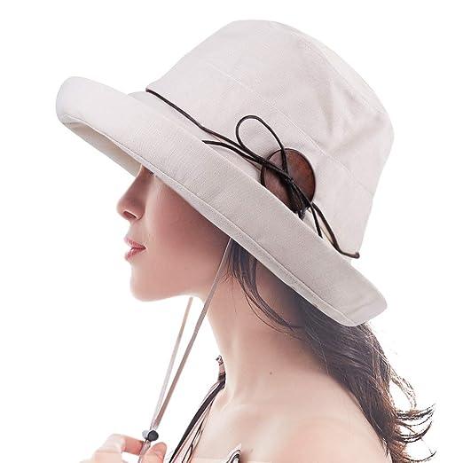 5fd4532e4ca FURTALK Bucket Sun Hats for Women Cotton UPF 50+ UV Protection Packable  Summer Hat