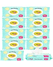 Flushable Butt Wipes for Adults and Children, Aloe Vera Scented (10 Pack, 480 Wipes)