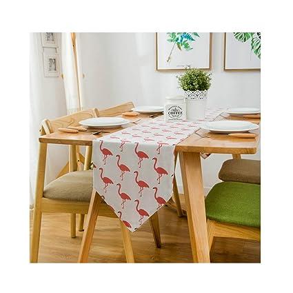 Linen Cotton Ethnic Table Runner/Flag   Flamingo Bed Runner Dining Coffee  Table Decor 12
