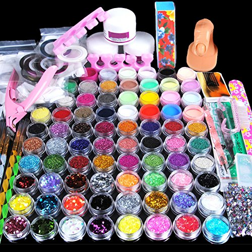 Fashion Zone Acrylic Powder Glitter Glass Cup 3D Mold Decoration Designs Nail Art Tools Set