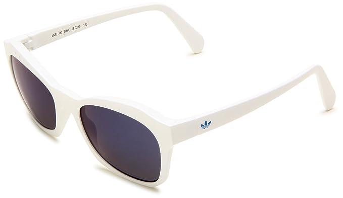 adidas Foray rectángulo Gafas de sol Blanco steelblue mirror ...