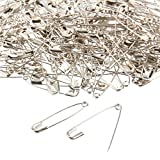 #8: 400-Count Safety Pins - Large Safety Pins for Garment Repair, Quilting, Jewelry Making, Silver - 1.7 x 0.4 Inches