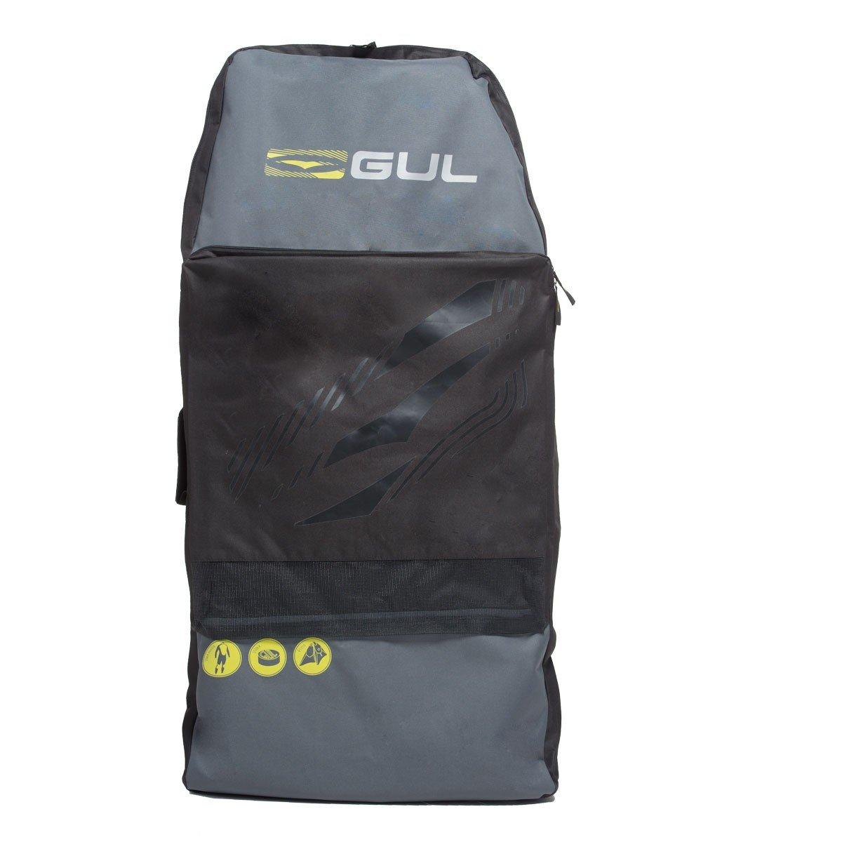 Gul Arica Bodyboard Bag Back Pack for 2 x 42'' Adult Bodyboards. Black / Yellow