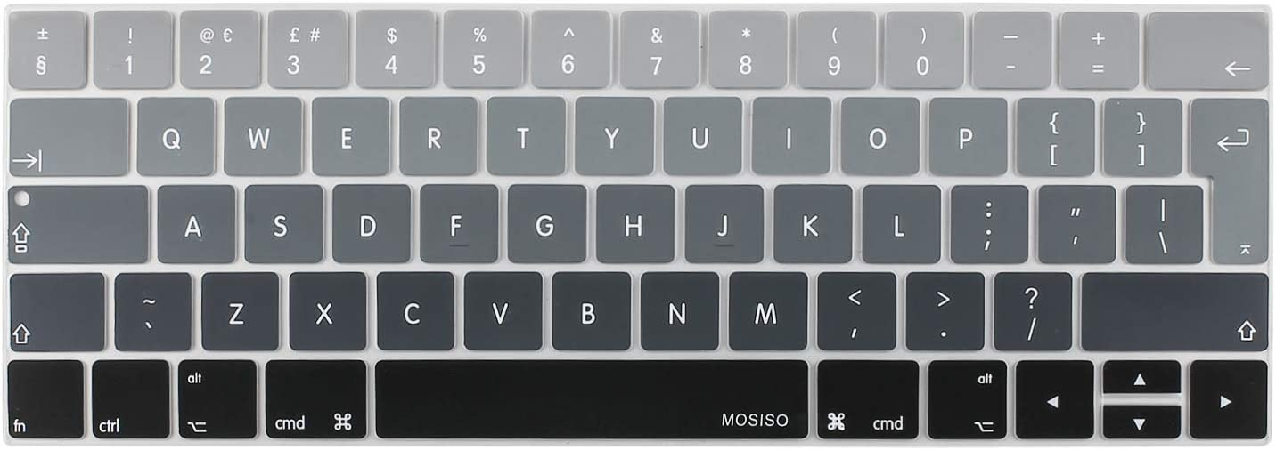 Marbre Rose mosiso Prot/ège Clavier Compatible MacBook Pro 13 15 Touch Bar 2018 2017 2016 A1989//A1706/&A1990//A1707 Premium Qualit/é Ultra Slim Silicone EU Disposition QWERTY