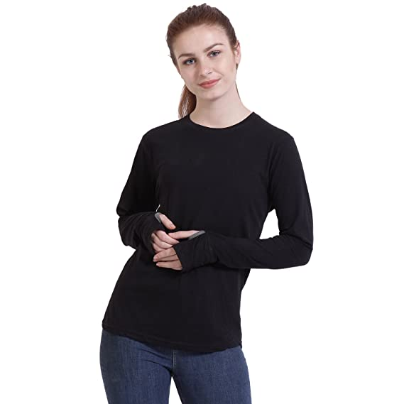 thumb hole t shirts for women