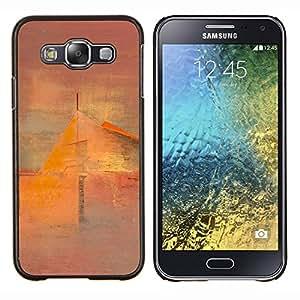 Arte Pintura Casa Mist- Metal de aluminio y de plástico duro Caja del teléfono - Negro - Samsung Galaxy E5 / SM-E500