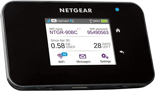 23 opinioni per Netgear AC810-100EUS Router Mobile 4G LTE, 600 Mbps, Dual Band AC, Touchscreen,