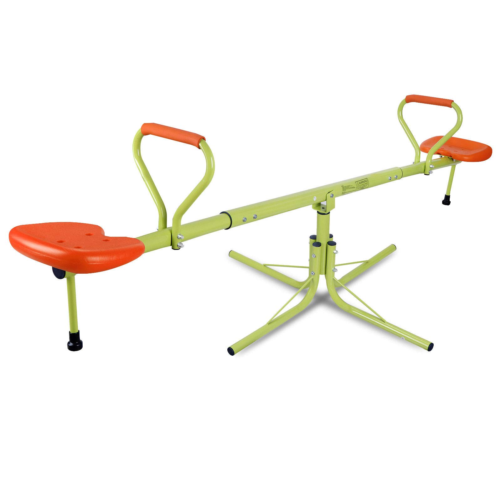 Outdoor Fun 360 Degree Spinning Seesaw for Kids, Children Teeter-Totter Play Set, Playground Equipment Swivel Toys, Ages 3 - 7
