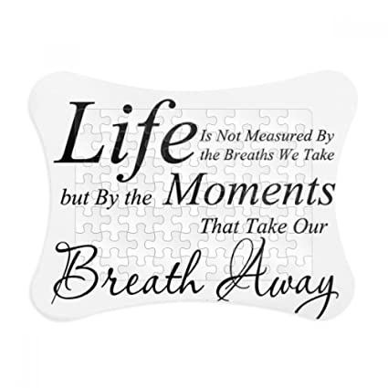 Amazon.com: Life Moments Breath Quote Paper Card Puzzle Frame Jigsaw ...
