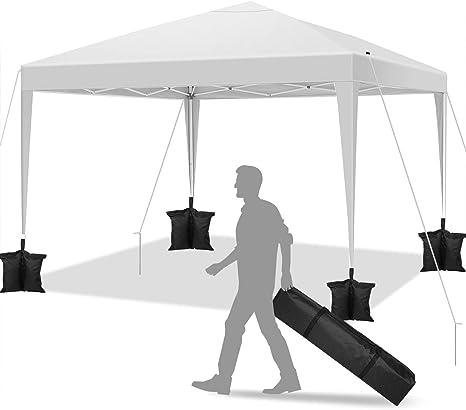 YUEBO Carpa 3x3 m Carpas Plegables Impermeables Gazebo Plegable Cenador Plegable Camping Cenadores para Jardin, Fiestas