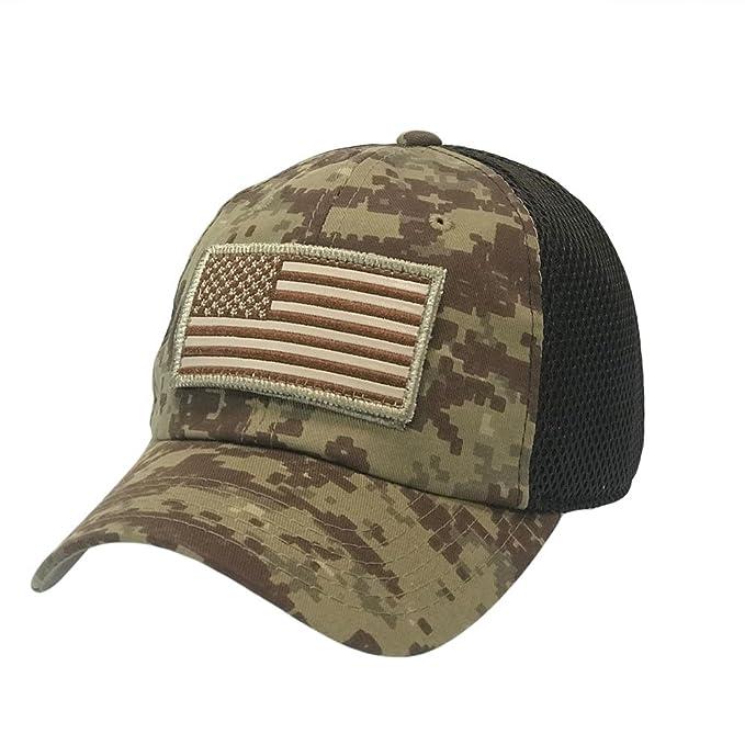 1c0601f18 Amazon.com: The Hat Jungle USA American Flag Patch Tactical Hat Mesh Back  Adjustable Baseball Cap: Clothing
