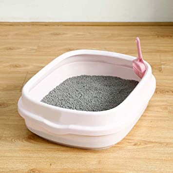 Caja de arena para gatos, caja de inodoro para bandeja de arena para gatos, ...