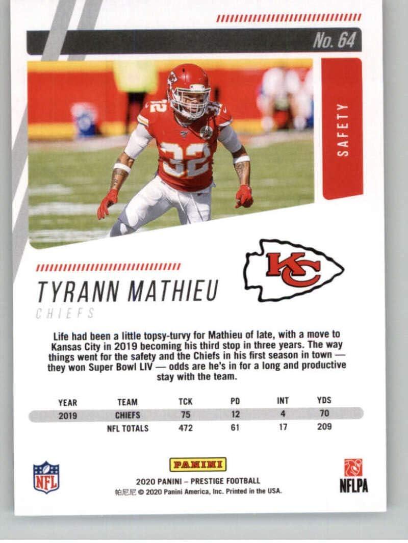 2020 Panini Prestige #64 Tyrann Mathieu Kansas City Chiefs Football Card