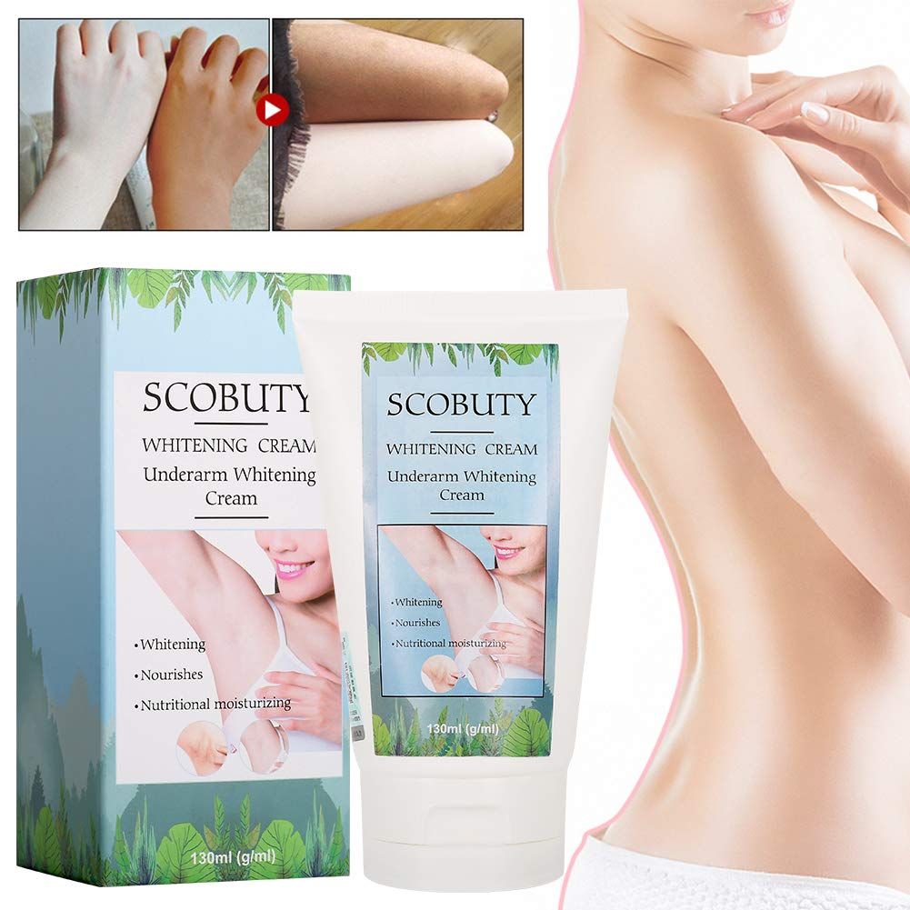 Whitening Cream,Underarm Whitening Cream,Natural Lightening Cream,Effective for Lightening & Brightening Armpit,Knees,Elbows,Sensitive & Private Areas,Underarm Repair Whitening Cream by SCOBUTY