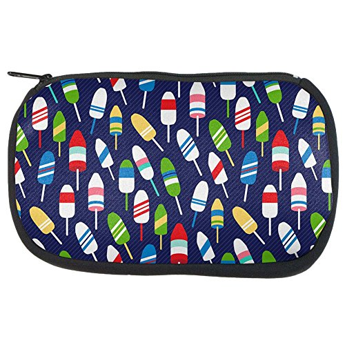 Summer Sun Buoy Bouys Repeat Pattern Navy Makeup Bag Navy Standard One - Bouy Buoy