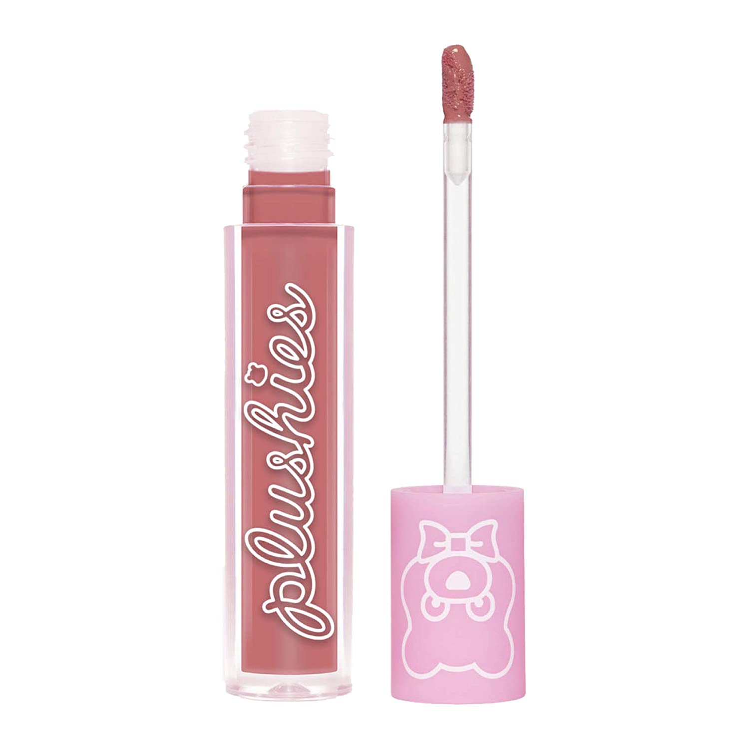 Lime Crime Plushies Soft Matte Lipstick, Turkish Delight - Sheer Dusty Rose - Blackberry Candy Scent - Long Lasting, Nude Lips - Soft Focus, Non-Opaque Lip Veil - 0.11 fl oz