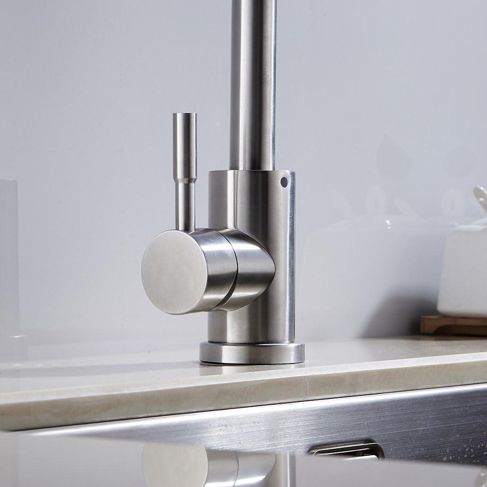 Chrom/é Robinet Levier mitigeur de lavabo k/üchenarmatur Mitigeur pour la cuisine Salle de bains avec 2/tuyaux Style02