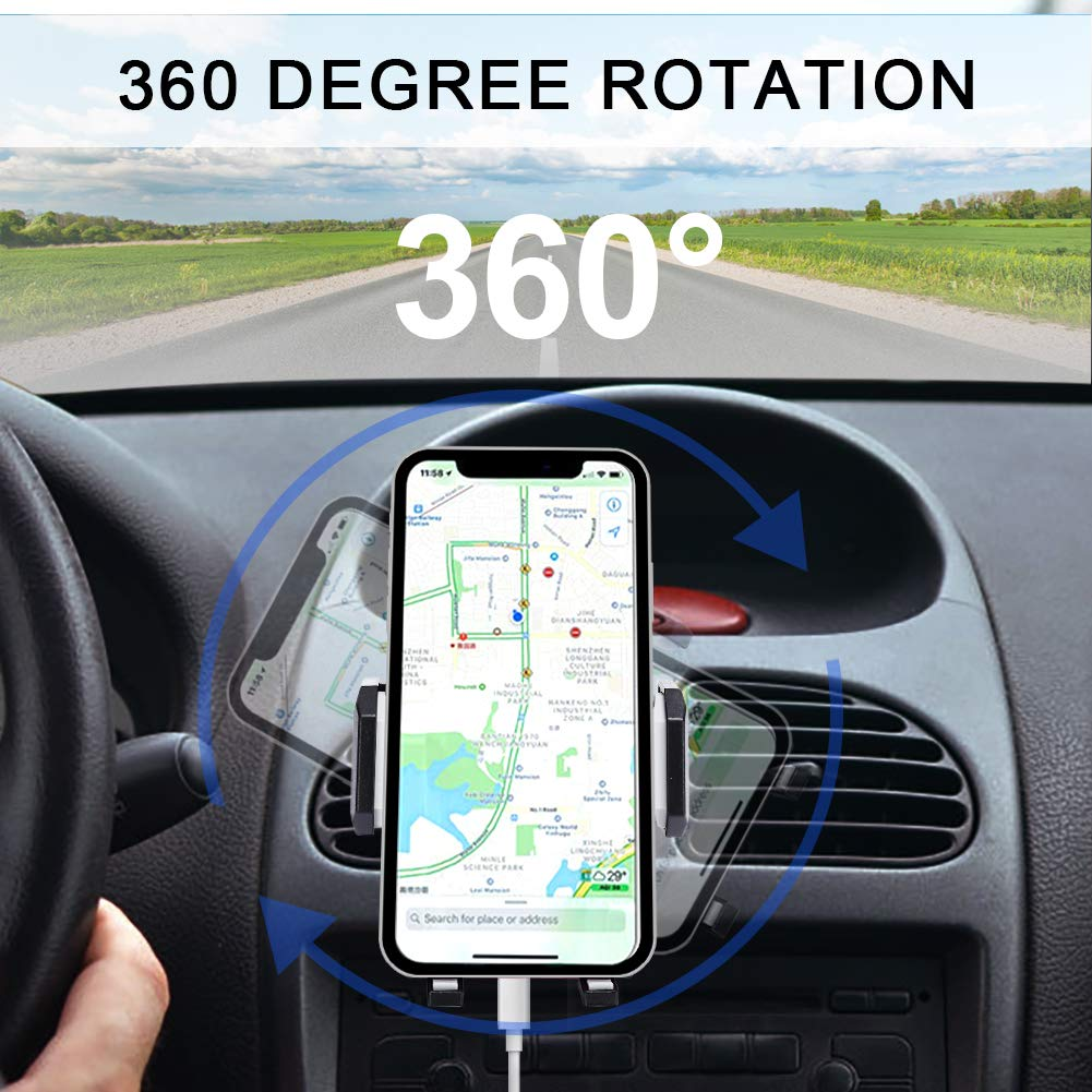 Universal Air Vent Cell Phone Holder Mount for Car TedGem Car Phone Mount Phone Holder for Car LG and More Adjustable Car Phone Clip Holder Compatible with Samsung Galaxy S10//S9