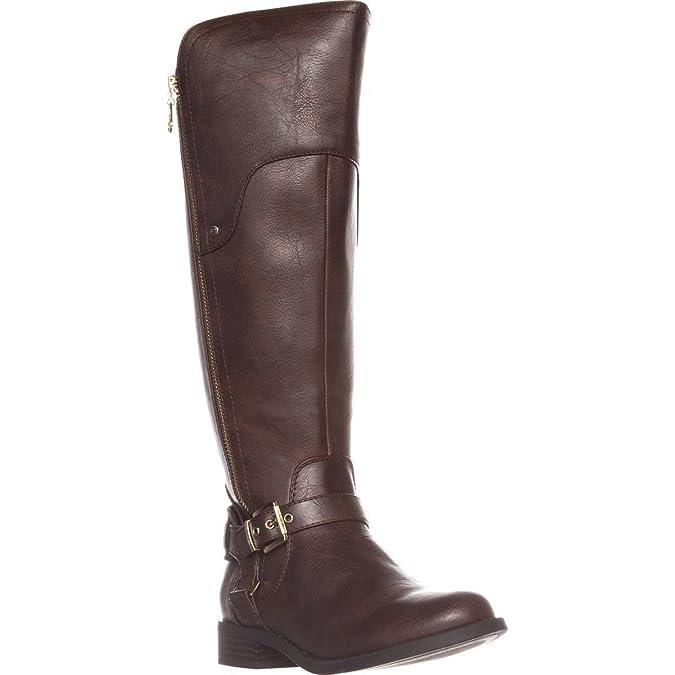 c4b6c3e6c87 G by GUESS Womens harson Almond Toe Knee High Fashion Boots