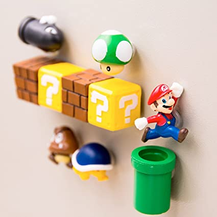 Mario Decorative Refrigerator Magnets Kitchen Kit