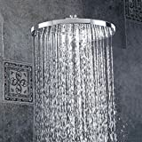Kitsch™ 230mm (9' Dia) Oreo White 2 Spray MASSAGER & Rain Spray ABS Shower Head Without Shower Arm