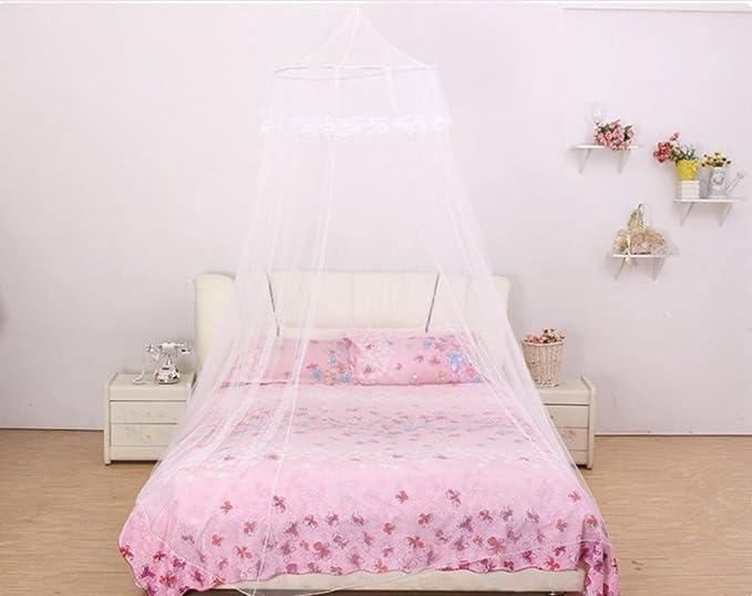 Zanzariera Letto Cotone : Zanzariera per letto tenda a cupola contro insetti e moscerini
