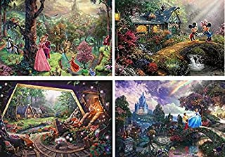 product image for Ceaco Disney The Disney Collection 4 in 1 Multipack Sleeping Beauty, Mickey & Minnie Mouse, Snow White & Seven Dwarfs, and Cinderella Jigsaw Puzzles, (4) 500 Pieces