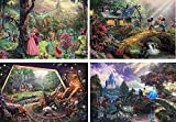 Thomas Kinkade - The Disney Collection 4 in 1 Multi-Pack, 500 Pieces Each Puzzle (Sleeping Beauty, Mickey & Minnie Mouse, Snow White & Seven Dwarfs, and Cinderella)