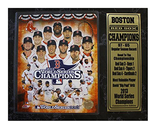 Sox Red Plaque Boston - Encore Select 520-05 MLB Boston Red Sox 2013 World Series Champions Stats Plaque, 12-Inch by 15-Inch