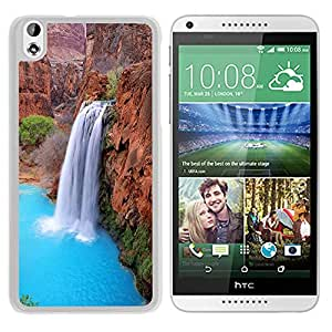 New Beautiful Custom Designed Cover Case For HTC Desire 816 With Nature Fantasy Waterfall From Valley (2) Phone Case