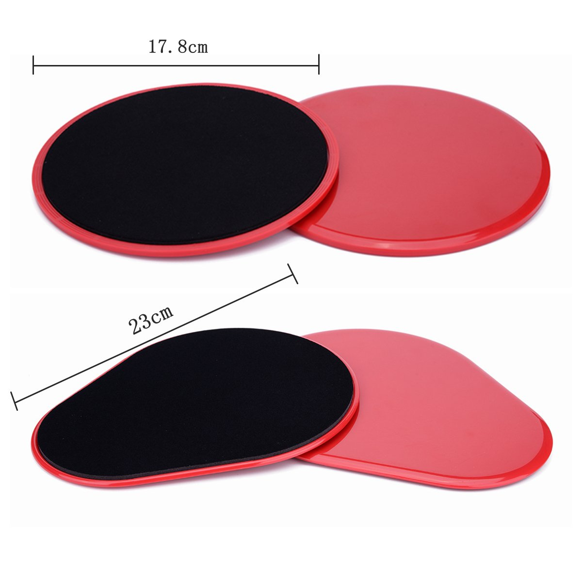 Core Slider - Core Workout Exercise Sliders, Extra Thickness Two-sided Gliding Discs Sliding Plate, 4pcs Fitness Core by She-Lin (Image #2)