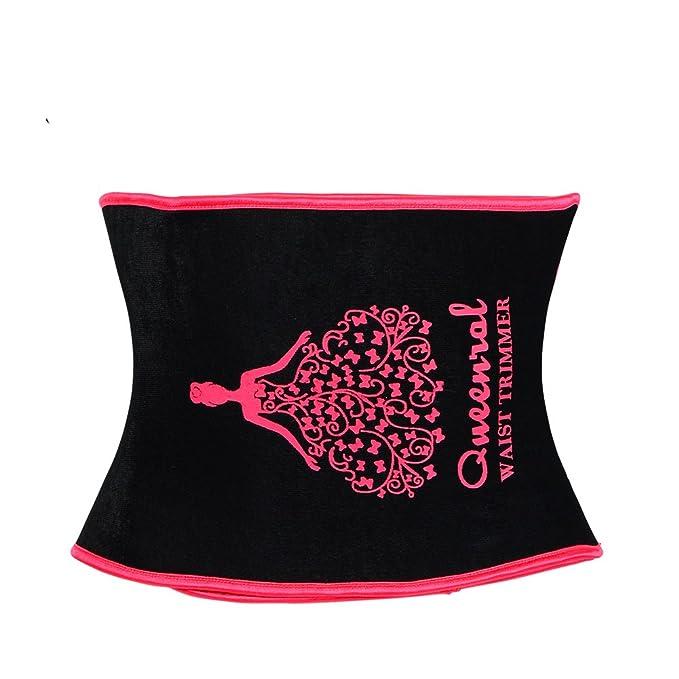 5ec70b6128 Queenral Waist Cincher Tummy Trimmer Trainers Belt Weight Loss Slimming  Women Workout Corset Pink