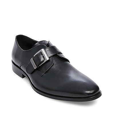 1c09d3e0383 Amazon.com: Steve Madden Emmett Black Leather 10 Oxford: Shoes
