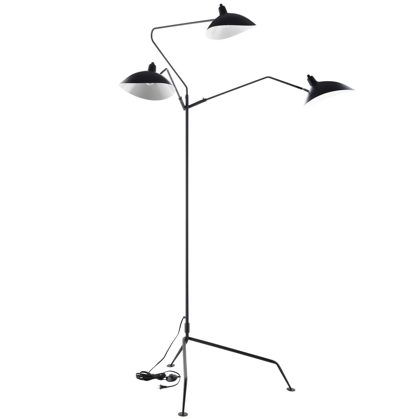 Modway View Stainless Steel Floor Lamp, Black