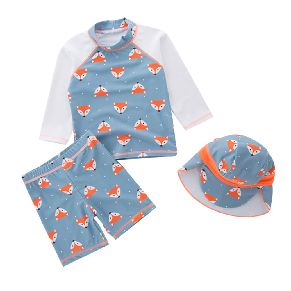 LOSORN ZPY Kids Boys Two Piece Swimsuit Kids Swimwear Bathing Suit Sun Protection With Swim Cap LZ-TYY-110