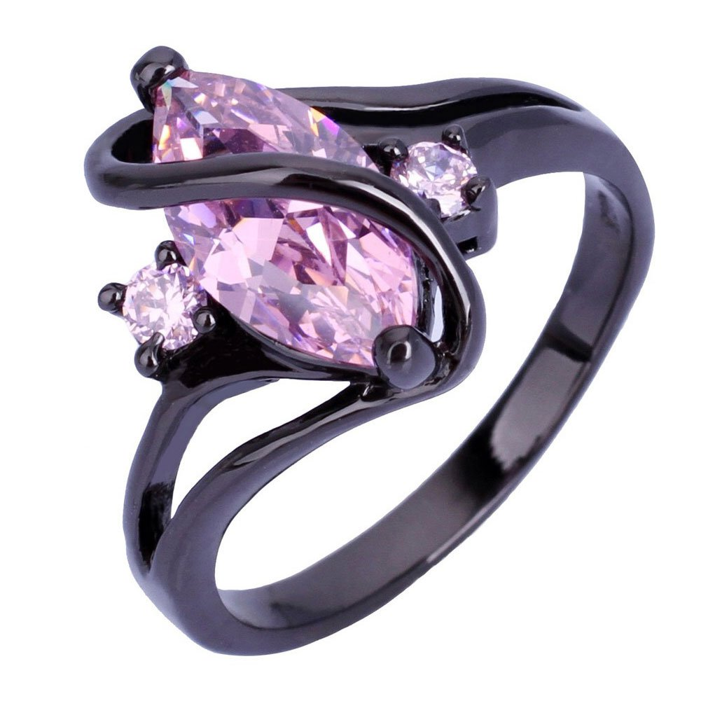 ring wedding silver band rings engagement diamond promise sterling halo rose stacking gold amethyst cushion cz il fullxfull plated purple