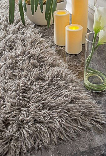 - Hand Woven Flokati Shag New Zealand Wool Natural Grey Shag Area Rugs, 8 Feet by 10 Feet (8' x 10')