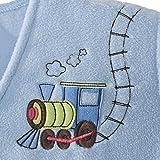 HALO Early Walker SleepSack Micro Fleece Wearable Blanket, Blue, Large
