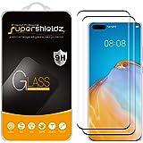 Supershieldz - Protector de visualización de vidrio templado para Huawei P40 Pro, antiarañazos, sin burbujas (negro)