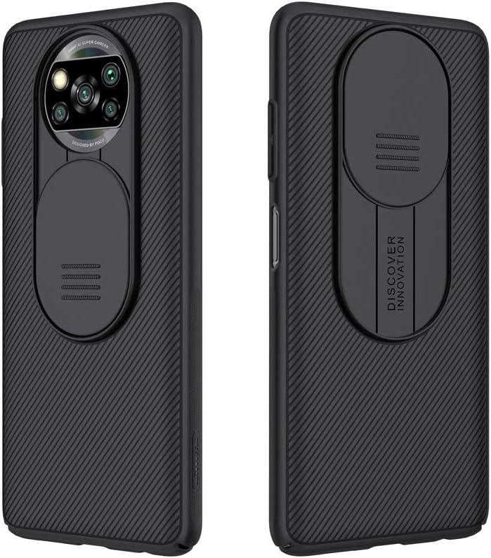 Funda con protector de cámara para  xiaomi Poco X3 NFC negra