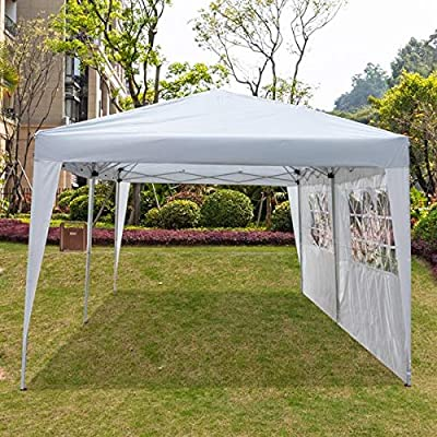 SPOTBRACE Canopy Waterproof Commercial Pavilion Gazebo Portable Outdoor Folding Party Tent Camping Beach Tent 3 x 6m 2 Window Removable Sidewalls &Carry Bag for Wedding Events BBQ: Sports & Outdoors