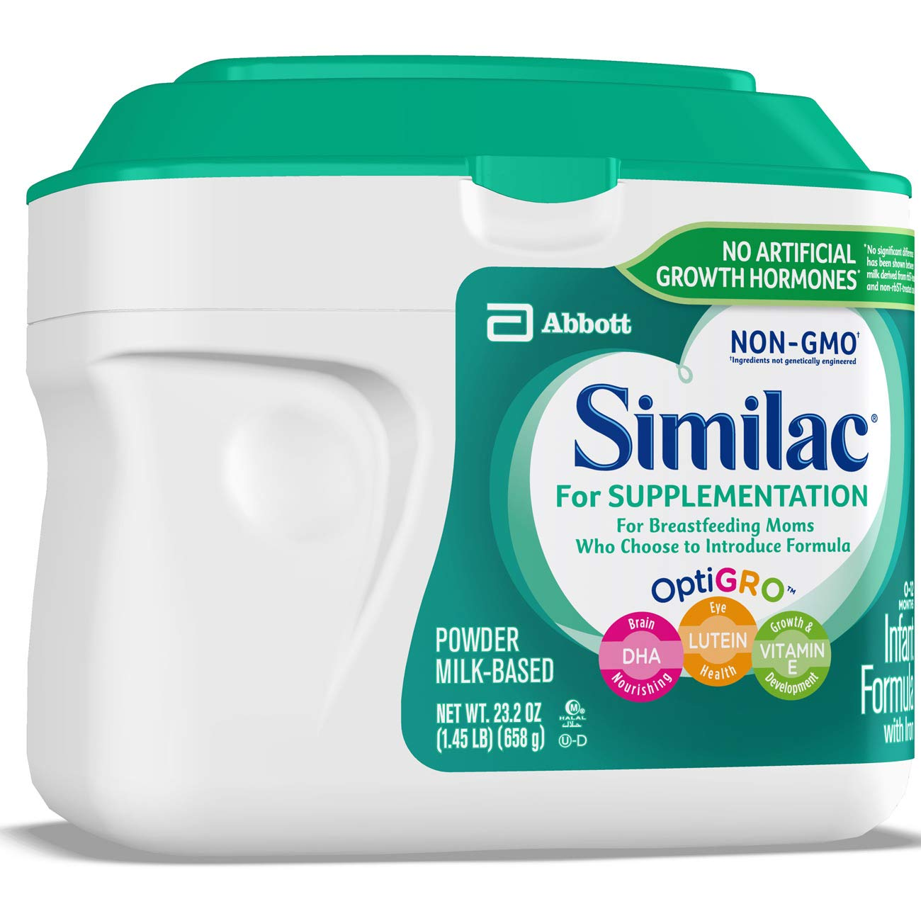 Similac For Supplementation Non-GMO Infant Formula with Iron, Powder, 23.2 Ounces (Pack of 4) by Similac (Image #8)