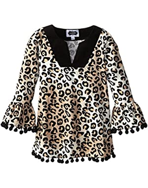 Little Girls' Leopard Tunic Corduroy