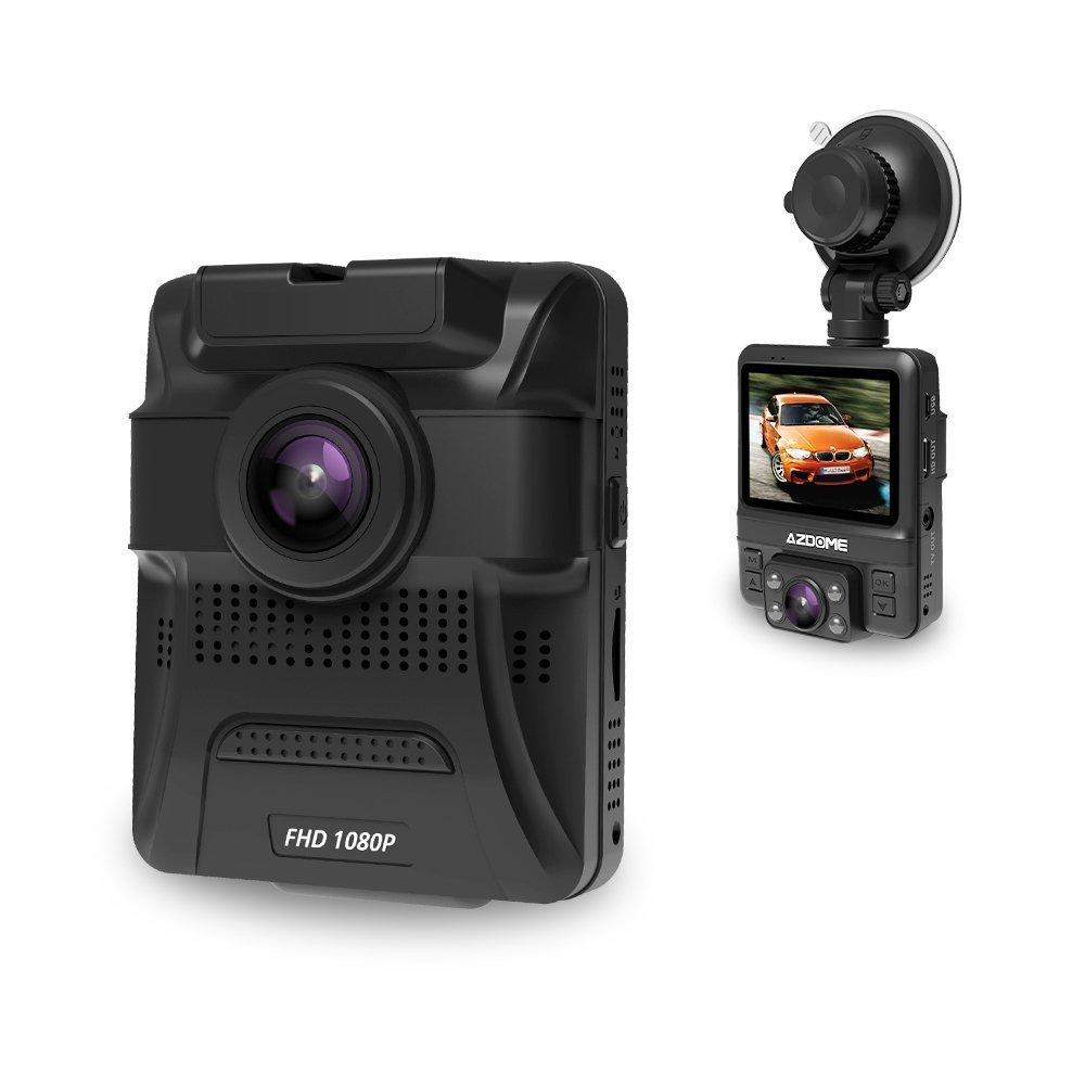Dash Cam with 6-Lane Dual Lens 170°Wide-Angle,1080P Front and 720P Inside Dashboard Camera Recorder Built-in GPS,Sony Sensor,G-Sensor,Loop Recording,Night Vision,Parking Guard for Uber LYFT by AZDOME