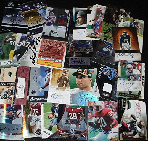 Autographed Football Cards Grab Bag Lot of 10 Signatures