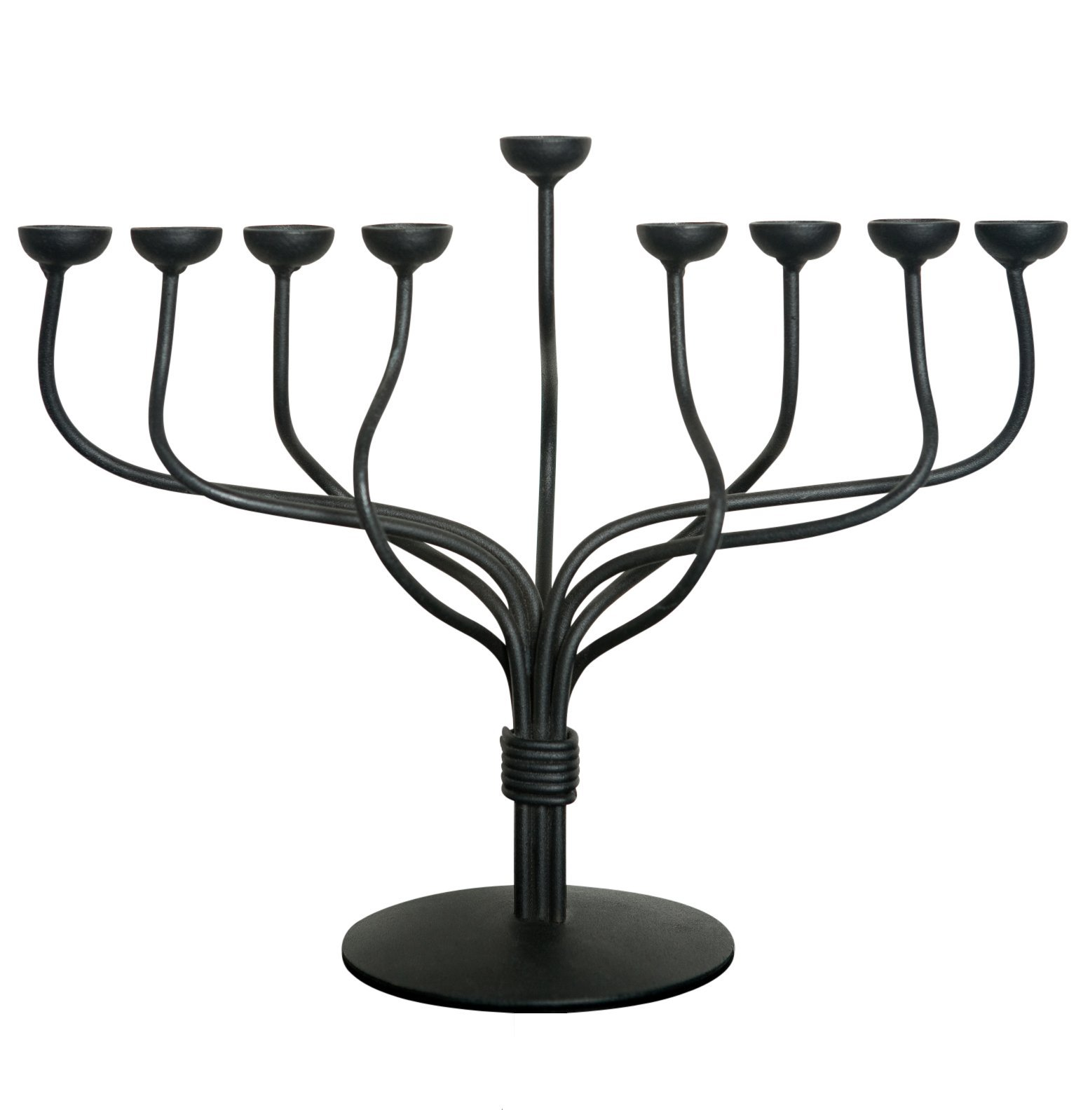 RTZEN Judaica - Hanukkah Menorah, Handmade, 9 Iron Branches, Décor Made In Israel By