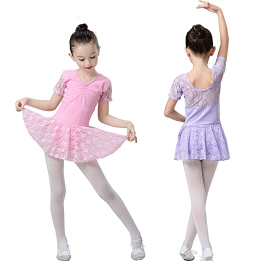 526e13ae01bc Amazon.com  Girls Leotard Dress Clothes For Ballet Dance Tank Tutu ...