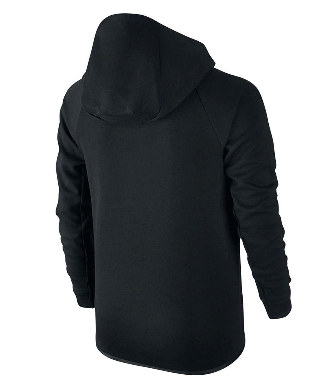 Amazon.com  NIKE Sportswear Tech Fleece Windrunner Boys Youth Big Kids  Black Cool Grey 804730-011 (S (8))  Sports   Outdoors 97be0bb0b