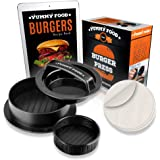 YummY Food - Stuffed Burger Press Patty Maker - Burger Maker For Home Parties And Barbecues - 3-IN-1 Burger Mold - With 30 Free Wax Paper– Recipe eBook & Bonus Mold For Mini Burgers