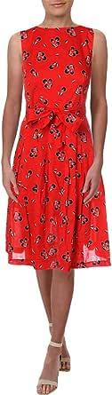ANNE KLEIN Women's Cotton FIT & Flare Dress